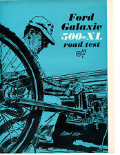 1964 FORD GALAXIE 500-XL 390/300 HP ~ ORIGINAL 6-PAGE ROAD TEST / ARTICLE / AD