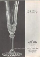 ▬► PUBLICITE ADVERTISING AD Saint Louis Cristal Flute Tommy 1961