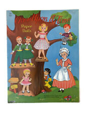 """Saalfield Artcraft Paper Doll Book Once Upon a Time UNCUT 11"""" x 14"""""""