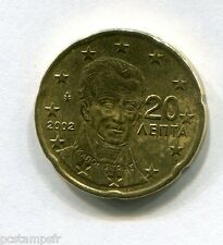 GRECE - pièce de 20 cts d' euro 2002 sans lettre - TTB