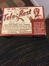 VINTAGE TELE-REST HANDS FREE PHONE ATTACHMENT NEW IN BOX, Beige looks pink