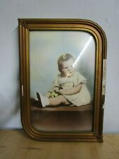 Vintage BUBBLE GLASS PICTURE FRAME BEAUTIFUL BABY PHOTO ESTATE FIND