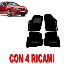TAPPETINI PER AUTO SU MISURA PER SEAT IBIZA (3) IN MOQUETTE E GOMMA + 4 RICAMI