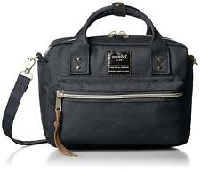 Anello AT-C1223 Shoulder Mini Boston Bag Navy Polyester From Japan F/S NEW