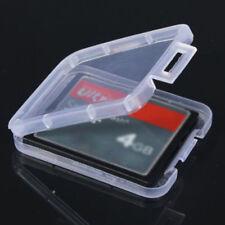 10* Transparent Standard SD MMC CF Speicherkarte Case Holder Box Storage Plastic
