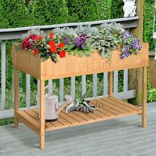 Clearance Sale Outsunny Planter Box Elevated Garden Plant Stand 8 Grid Box