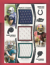 ANDREW LUCK ROBERT GRIFFIN RYAN TANNEHILL 3 ROOKIE JERSEY CARD 2012 TOPPS PRIME