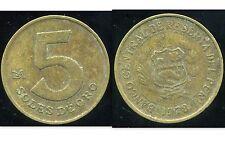 PEROU  5 soles de oro  1978
