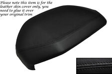 BLACK STITCH DASH COWL HOOD LEATHER SKIN COVER FITS LAND ROVER FREELANDER 98-06