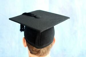 Graduation Gown accessory UK Style Graduation Hat--Wool--stock clearance
