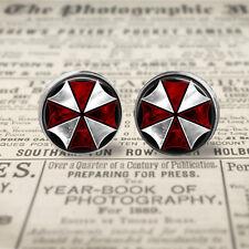Resident Evil Umbrella Corporation 12mm  Stud Post Earrings. Gift For Her.