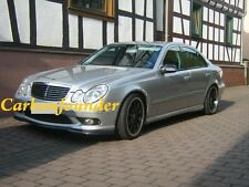 2 FOR BENZ W211 E55 AMG ADD PAINTED MATTE BLACK FRONT LIP SPOILER+REAR DIFFUSER