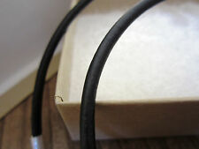 "Leather Cord Necklace - Pure Sterling Silver Clasp/Catch - 16"" inch - Black 3mm"