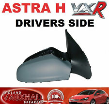 VAUXHALL ASTRA H MK5 VXR ELECTRIC WING MIRROR DRIVERS OFF SIDE PRIMED COVER NEW