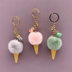 Keychain Cartoon Keychain Plush Bags Hang Cone Car Key Chain Jewelry Gifts