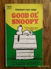 Everybody's Best Friend Good Ol' Snoopy by Charles M. Schulz Paperback