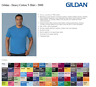 100 Gildan T-SHIRTS BLANK BULK LOTS Colors or 100 White Plain S--XL Wholesale 50