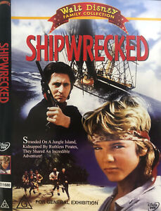 Shipwrecked DVD 1990 Kids Movie Disney - Pirate Adventure Family - AUST REG 4