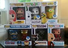 Funko Pop Lot Of 6 Marvel Zorn Minions Ghostbusters Exclusives MIB