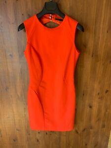 ZARA MINI SHIFT DRESS Orange Cut Out Back UK 8-10 - VGC