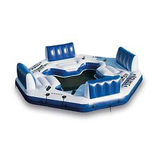 Inflatable Raft Floating Island Lake Relaxation Station Water Lounge 4 Person