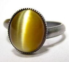 Versilberte Modeschmuck-Ringe mit Cabochon-Stil