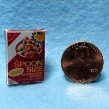 Dollhouse Miniature Replica box of Spoon Size Shredded Wheat