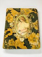 BEAUTIFUL ANTIQUE VICTORIAN CELLULOID VELVET ALBUM WITH 17 PHOTOS (1 Tin)