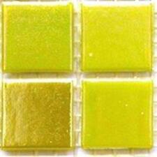 75 vitrifiée Iridescent tuiles de Mosaïque 20mm - Citrine jaune
