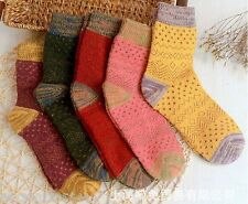 3 Pairs New Soft Comfortable & Warm Women Wool Cashmere Socks High Quality SALE