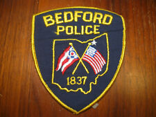 BEDFORD OHIO POLICE PATCH (STATE SHAPE SILHOUTTE IN CENTER)