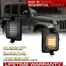 Sequential Led Side Mirror Turn Signal Lamp Set For 2018 2021 Wrangler Gladiator