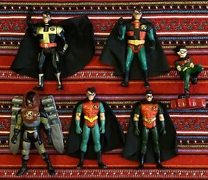 Lot Of 6 Robin Action Figures, Batman: The Animated Series & More, 1990s Titans