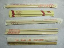 Collection of Seven Sets: Plastic or Bamboo CHOPSTICKS from Hong Kong and China