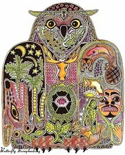 OWL BIRD Animal Spirit Cling Unmounted Rubber Stamp EARTH ART Sue Coccia New