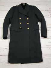 SWEDISH WOOL DOUBLE BREASTED TRENCH PEACOAT OVER-COAT MILITARY ARMY C50