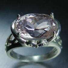 Aquamarine Engagement Solitaire Sterling Silver Fine Rings