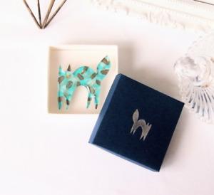 ''Surprised Cat - Mint chocolate chip'' PIN BROOCH JPN Artist Animal