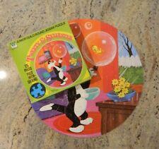 "Vintage 1972 Whitman 20"" Round 125 Piece Puzzle - Tweety & Sylvester"