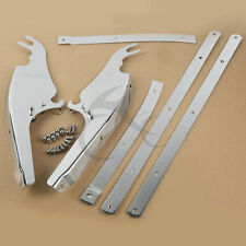 Chrome Windshield Mount Bracket For Harley Heritage Softail Slim Fat Boy Deluxe