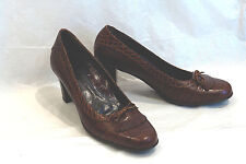 MICHAEL TOSCHI / ITALY/ KILTIE PUMP IN EMBOSSED CROC & GATOR / 37 EUR / FLAWLESS