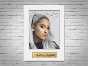 Ariana Grande A4 Printed Signed Autograph Photo Display Mount Gift