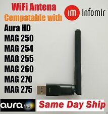 Wireless WiFi USB Dongle Stick Aura HD IPTV MAG 250 254 255 260 270 275 mag254