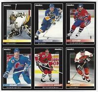 1992-93 Pinnacle Hockey Card Promo Sheet: LINDROS, MOOG, NOLAN, SAVARD, GOULET