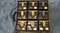 ADA HOARD!  Case of Nine B1 3 Slot Payphone Coin Boxes Ready to Reinstall