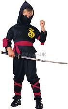 Rubie's Official Ninja Fancy Dress Child Costume Medium