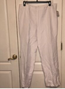 Kasper Audrey classic side zip pant white 18USA