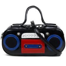 de tendencia Retro Piel Sintética Multi Negro 3d DETALLE Boston de Stereo Bolso