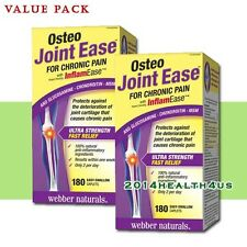 2 x Webber Naturals Osteo Joint Ease with InflamEase  180 Caplets