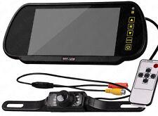 """7"""" LCD Monitor de aparcamiento de coche espejo retrovisor Backup de Visión Nocturna Cámara De Reversa"""